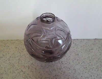Lightning Rod Ball Amethyst Moon & Star Glass Roof  Old Cabin Home Decor