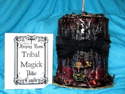 Tribal Magick Candle Witch Supplies Halloween Dressed Large Spell Bottle