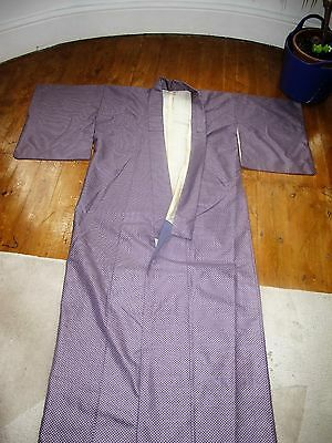 Japanese Traditional Furisode Kimono Silk Purple