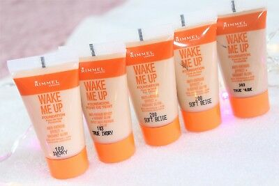 [Rimmel] *BARGAIN* 2 x Wake Me Up Foundation 15ml Travel Size (30ml Total)