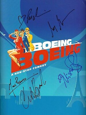 "Mark Rylance (Signed) ""BOEING BOEING"" Christine Baranski 2008 Souvenir Program"