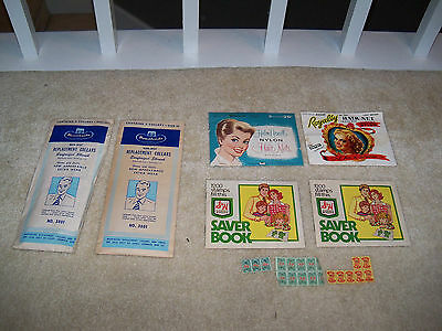 Lot of Vintage 1940s Advertising Royalty Hair Nets Collars S & W Stamps