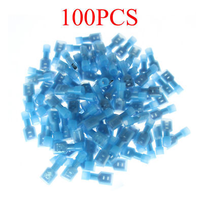 100 16-14 Gauge Female Insulated Wire Terminal Quick Disconnect Connectors Hot