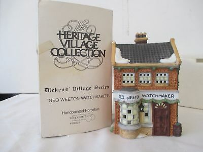 Dept 56 Dickens Village ~ Geo Weeton Watchmaker ~ Mint In Box  #5926-9