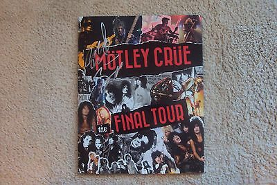 Motley Crue SIGNED Final Tour Program - All Bad Things Must Come To An End