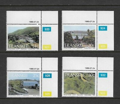 TRANSKEI - mint 1986 Hydro-Electric Power Stations, No.1, set of 4, MNH MUH