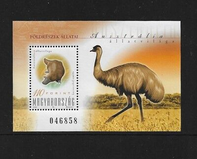 HUNGARY - mint 2000 Australian Animals, No.1, mini sheet, MNH MUH