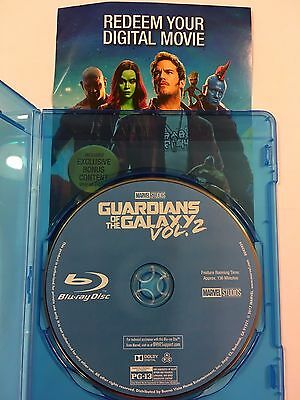 Guardians of the Galaxy Vol 2 (Blu-ray Disc + Digital HD) + BLANK CASE! SEE INFO