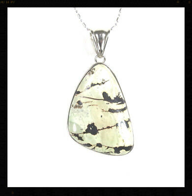 "Natural Chinese Painting Jasper gemstone 31x43mm Pendant Free 22"" chain N+1289"