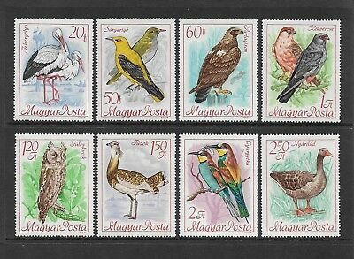HUNGARY - mint 1968 Bird Protection, set of 8, MNH MUH