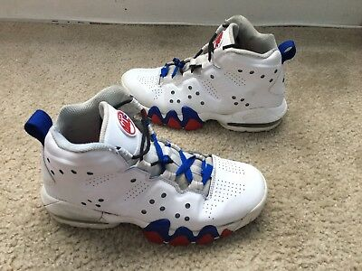 Youth Nike Air Max Barkley White Blue Red Size 5Y