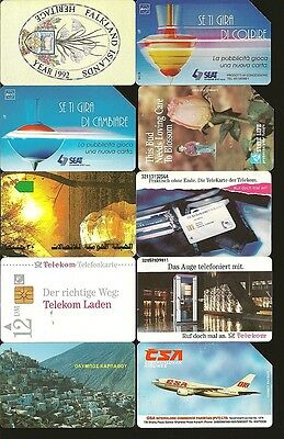 World Wide Telephone Cards 18 Different 1990s