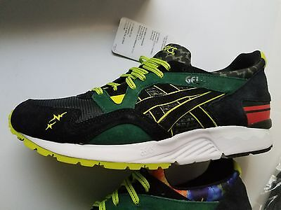 big sale 0d67f 7446f Asics Gel-Lyte V 5 Whiz Limited Mita Sneakers Recognize Black Green Red  Blue 10