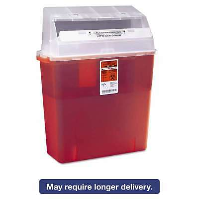 Medline Sharps Container for Patient Room, Plastic, 3gal, Rectang 080196282626