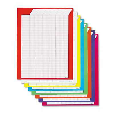 TREND® Vertical Incentive Chart Pack, 22w x 28h, 8 Assorted Color 078628739015