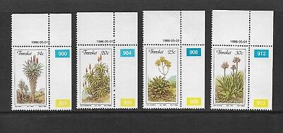 TRANSKEI - mint 1986 Aloes, Medicinal Plants, No.1, set of 4, MNH MUH