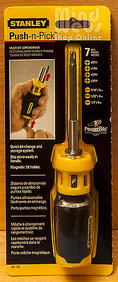 Stanley Push-n-Pick™ Multi-Bit Screwdriver Set with 7 Bits