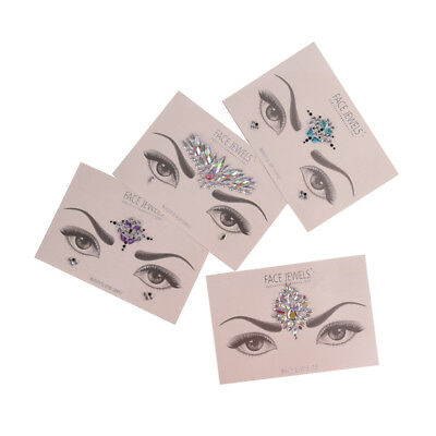 Crystal Temporary Eyes Tattoo Transfer Eyeshadow Eyeliner Face Stickers