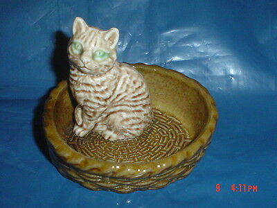 Highly Collectable Wade Cat In A Basket