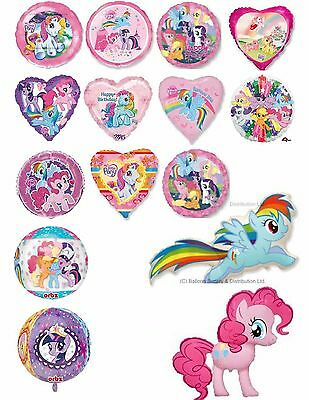 MLP My Little Pony Foil Balloons  Can Be Personalised Party Ware Decoration