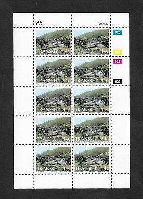 TRANSKEI - mint 1986 Hydro-Electric Power Stations, 14c, full sheet, MNH MUH