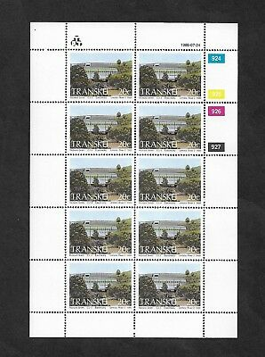 TRANSKEI - mint 1986 Hydro-Electric Power Stations, 20c, full sheet, MNH MUH