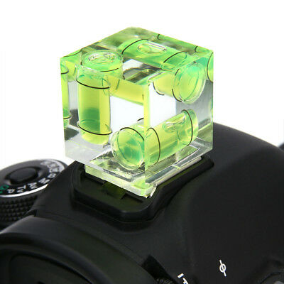 3 Axis Triple Spirit Level Bubble Hot Shoe Cover Protector For Camera DSLR