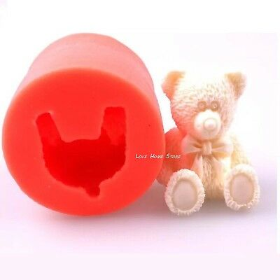 3D Silicone Teddy bear Soap Mould Cake Chocolate Baking Mold Candle Pan DIY Tool
