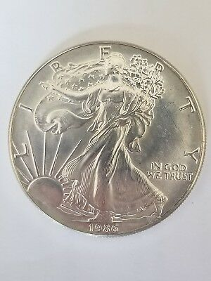 1986 American Silver Eagle 1 Ounce .999 Silver Coin - Key Date!