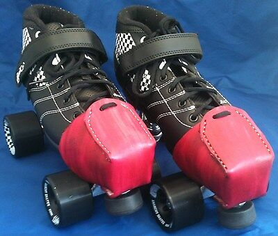 Leather Toe Caps / Snouts / Guards Pair Hand Made Choice of Colours Roller Derby
