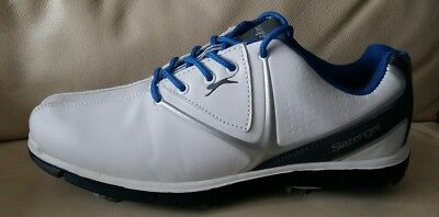 Ladies Slazenger White Navy Golf Lace Up Sport Womens Shoes