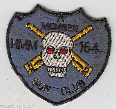 USMC HMM-164 Marine Medium Helicopter Squadron Vietnam Patch