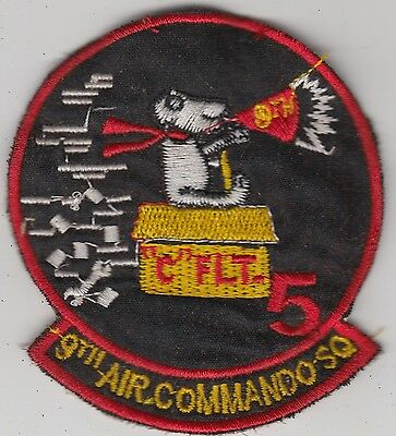 USAF 9th SOS/ACS Special Ops Air Commando Squadron Vietnam Patch Blue Barons