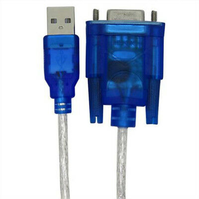 1pcs RS232 Serial DB9 pin female to USB 2.0 Adapter Converter Cable Blue