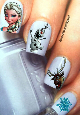Schneemann NailArt Sticker Aufkleber  water decal Nageldesign Tattoo 693