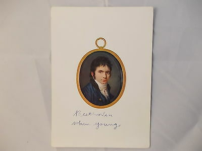 Beethoven Vintage Post Card Beethoven when young Germany Haus Bonn Ink Stamp