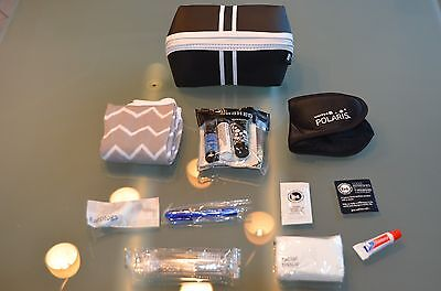 "United Airlines Amenitykit ""SaksFifthAvenue"" Black  2017 Brandneu!!!!TOP!!!"