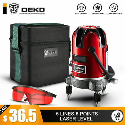 DEKO Self-leveling Cross 2 Line Level Plumb Points laser Horizontal & Vertical