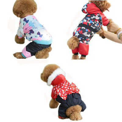 Winter Warm Clothes Pet Dog Padded Jumpsuit Puppy Hoodie Coat For Small Dogs