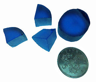 Facet rough -  blue synthetic Spinel.