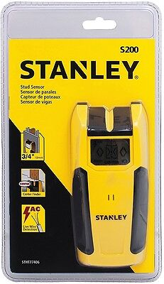 STANLEY LCD DISPLAY STUD SENSOR with AC LIVE WIRE DETECTION S200 - NEW STHT77406