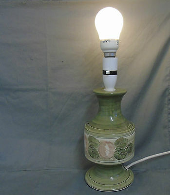 small jersey pottery lamp