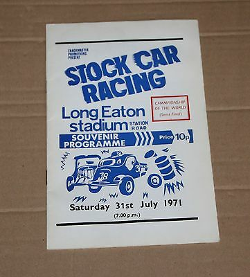 1971 Long Eaton Brisca F1 semi final programme, 31July