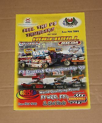2009 Cowdenbeath Brisca F1 Scottish Ch. & F2 programme, 13/14 June