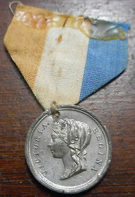 Australia 1877 Victoria - declared Empress of India  Medallion  with ribbon NICE
