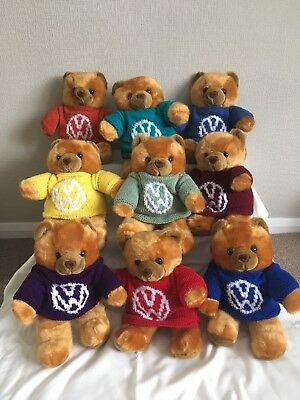 Teddy Bear In Hand Knitted VW camper van Logo Jumper. Ideal gift for Christmas