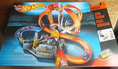 Hot Wheels - Spin Storm - Childs Toy Car Track Playset - Suitable Ages 5+
