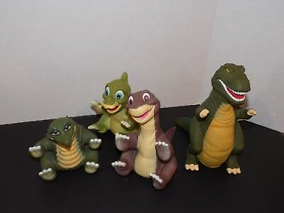 Vintage 1988 80's Land Before Time Dinosaur Puppets Set 4  used