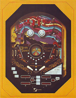 Game Plan Black Velvet Original Nos Pinball Machine Sales Flyer Brochure 1978