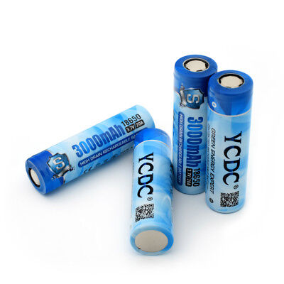 High Drain 18650 Battery 3.7V 3000mAh 20A Li-ion Rechargeable Cell For Torch 75